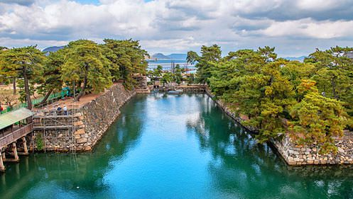 photo:The Ruin of Takamatsu Castle / Tamamo Park